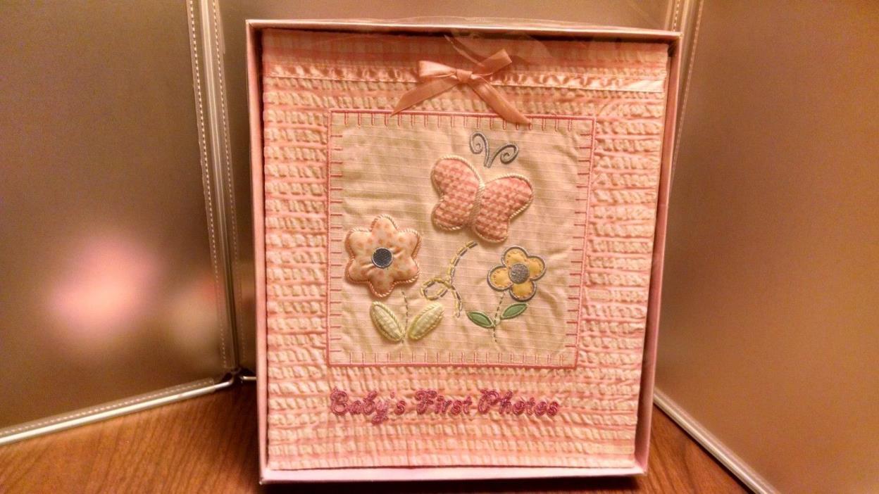 Baby Essentials Baby's First Photo Album, Butterflies flowers pink photos