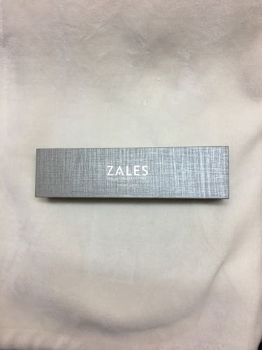 Zales the Diamond Store Silver Bracelet/necklace Jewelry Box NEW!
