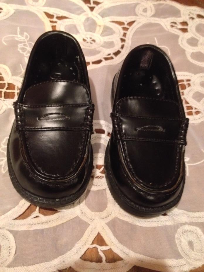 CRAZY 8  Toddler Boys Black Penny Loafer Dress Shoes ~ Size 5