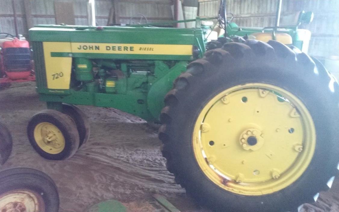 John Deere 720 diesel pony start