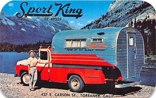 Torrance CA Sport King Camper Truck Photo Business Card
