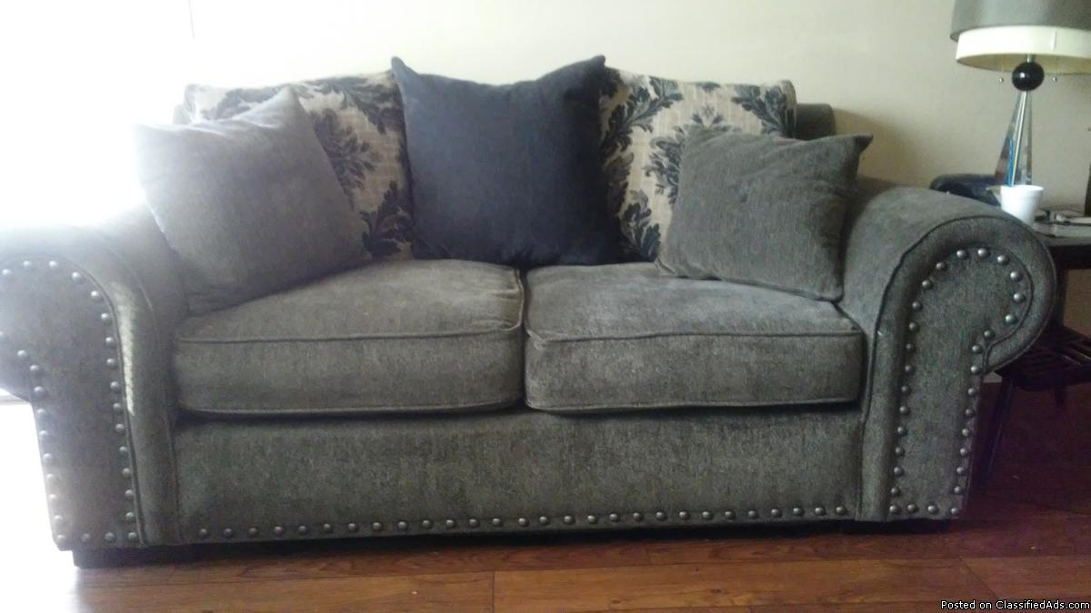 *REAL HEAVY DUTY FEATHER MADE COUCH & LOVE SEAT*