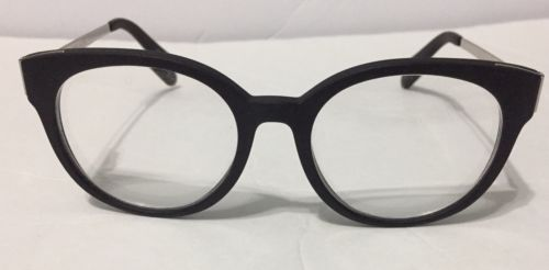 Michael Kors Eyeglasses Galicia MK 8010 3022  Black Rubberized Silver - Preowned