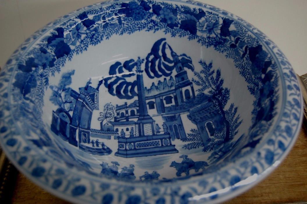 Blue & White Porcelain Chinese Decorative Bowl