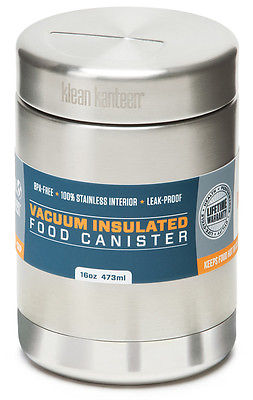 Klean Kanteen Vacuum Insulated 16 oz. Food Canister - Brushed Stainless