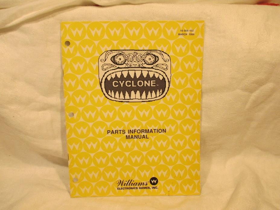 Cyclone Parts Pinball Manual