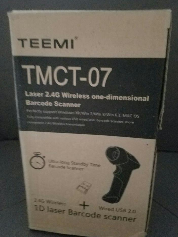 TEEMI TMCT-07 Laser 2.4G Wireless One-Dimensional Barcode Scanner