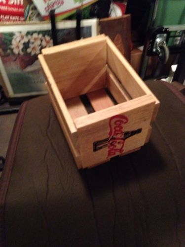 SMALL USED WOODEN COCA-COLA BOX / CRATE Vintage?? Coke