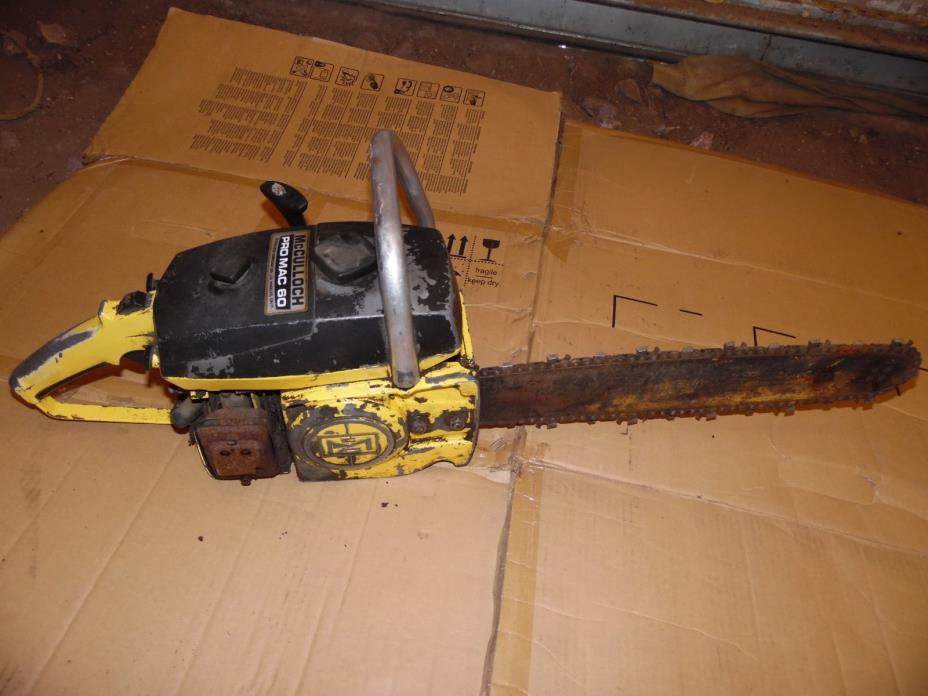VINTAGE MCCULLOCH PRO MAC 60 CHAINSAW CHAIN SAW PROMAC