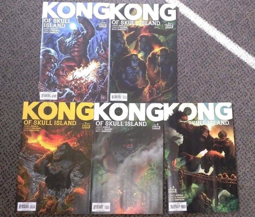 LOT x5 Kong of Skull Island Comics Boom Studios King Kong Comics
