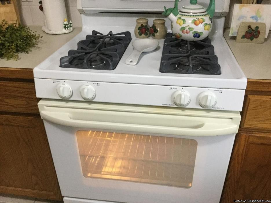 Gas Range and New Microwave