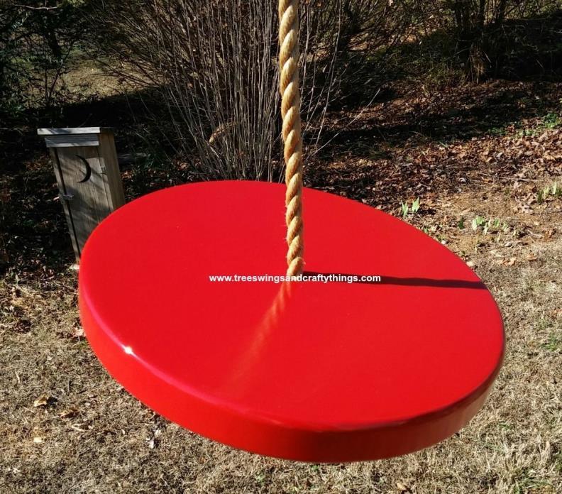 WOOD TREE SWING-Painted Disc Tree Swings