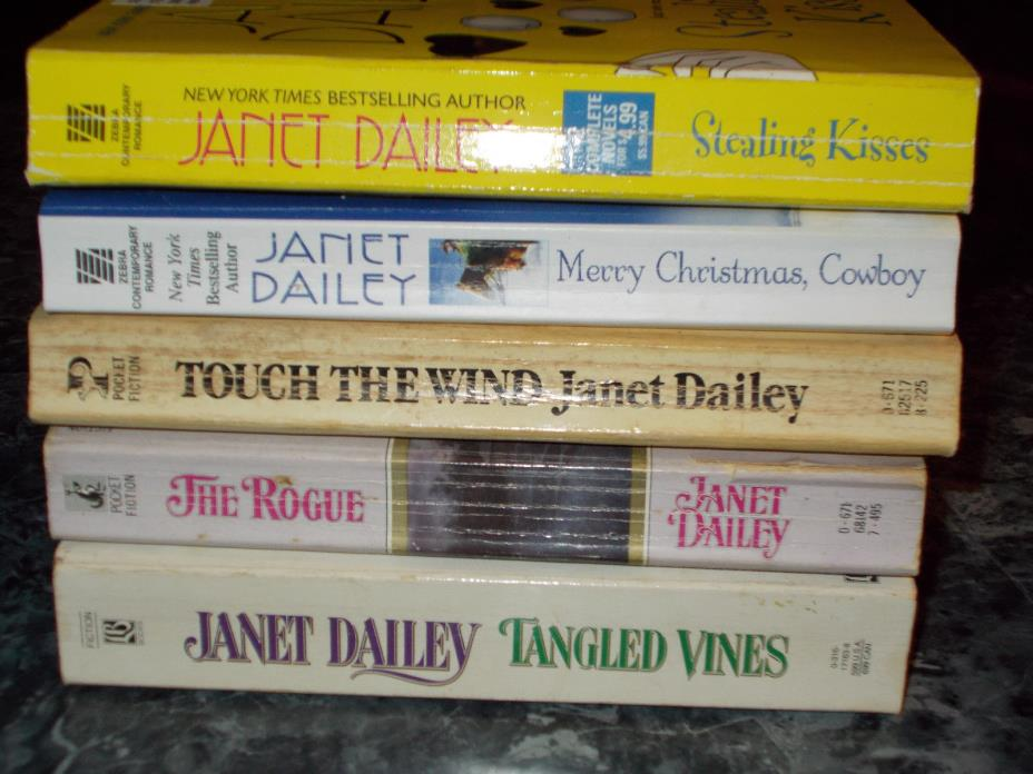 Janet Dailey lot of 5 contemporary romance paperbacks