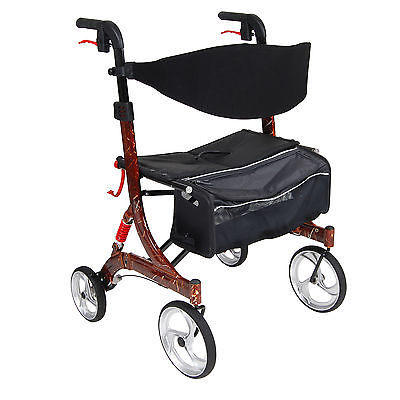 Nitro Euro Style Walker Rollator, Heavy Duty, Brown