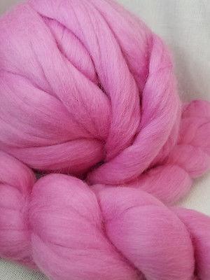 Merino Wool Top Roving CAMELLIA Pink 1 oz