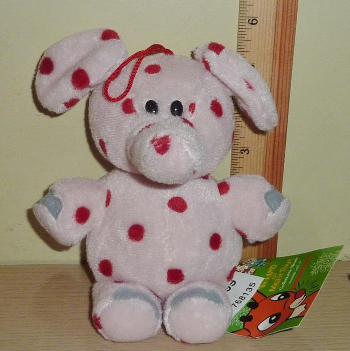 1998 CVS Stuffins Rudolph Island of Misfit Toys Beanbag Plush ~ Spotted Elephant
