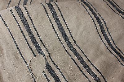 Vintage GRAIN SACK feedsack feedbag BLUE PRIMITIVE fabric patched timeworn SOFT