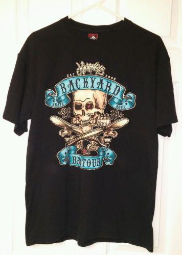 2010 JOURNEY BACKYARD BBQ Concert Tour (Large) T-Shirt Black Lucky-13