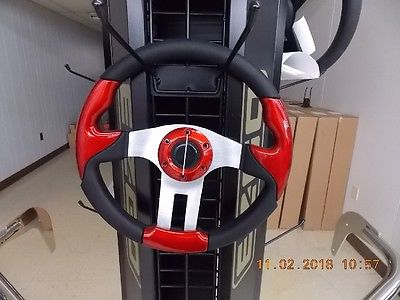 Red Golf Cart Soft Touch Steering Wheel