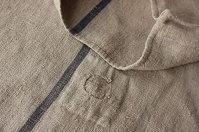Vintage GRAIN SACK feedsack feedbag GREY BLUE indigo blue sack hemp rustic old