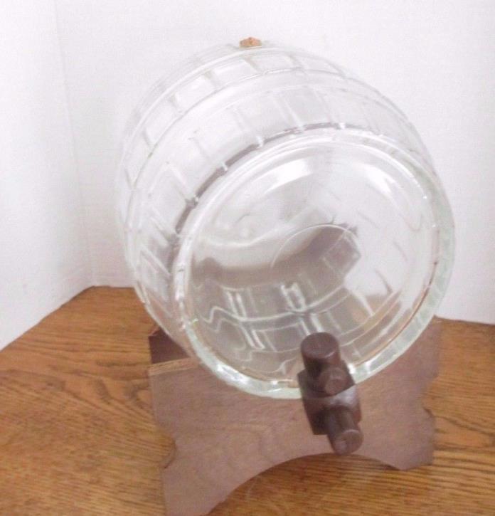 Glass Barrell Like Glass Wine Holder