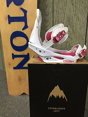 NIB 2015 Women's Burton Binding Citizen Medium White/Pink