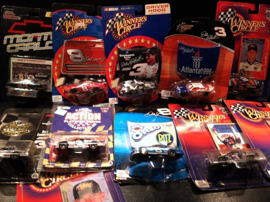DALE EARNHARDT & DALE JR 1:64 DIECAST NASCAR STOCK CAR - LOT OF 11 DIFFERENT