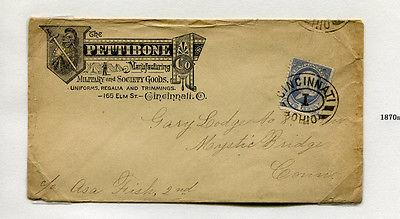 Advertising Envelope Cover PETTIBONE MFG Cincinnnati OH military society goods