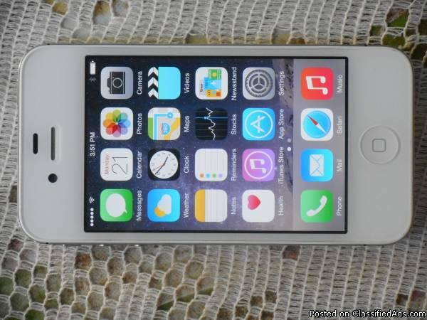 Apple iPhone 4s 64GB White Verizon Phone New Without Box ios 8.1.2