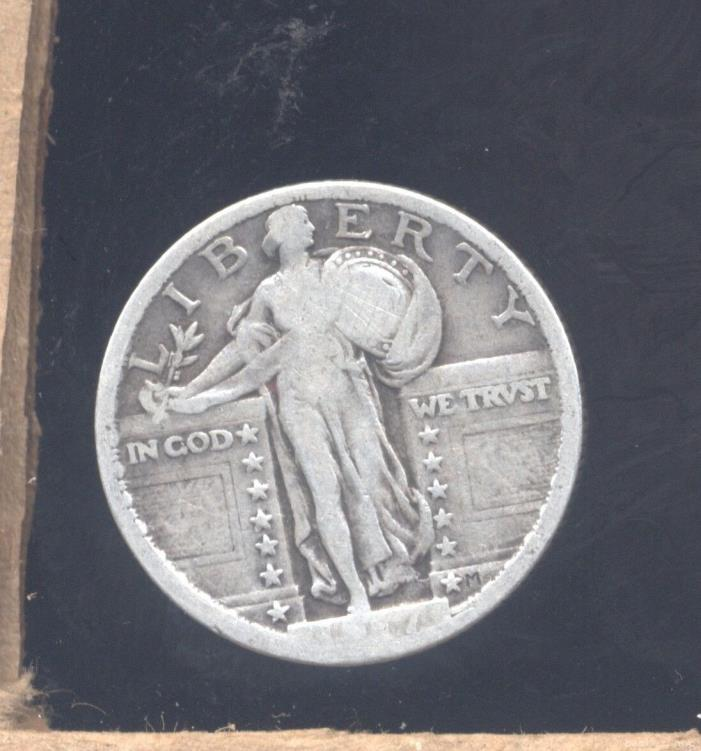 1917 type 2 VG-F Standing Liberty silver Quarter
