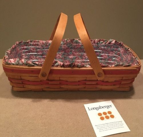 Longaberger 1991 May Series 'Roses' Basket Combo -Excellent!!