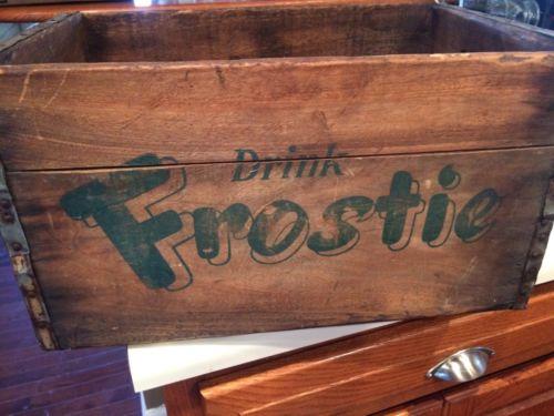 Vintage Frostie Root Beer Wooden Crate