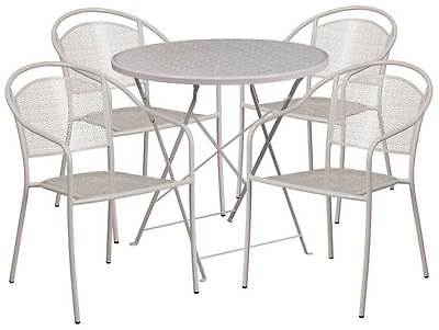 5-Pc Electic Patio Table Set in Gray [ID 3500570]