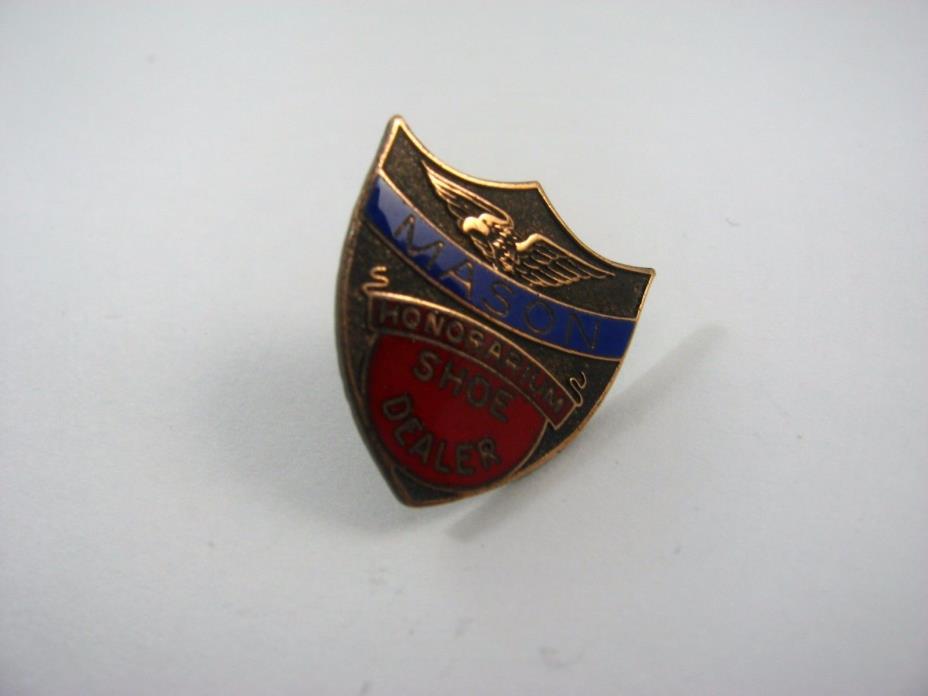 Vintage Collectible Pin: SHOE DEALER Honorarium Mason