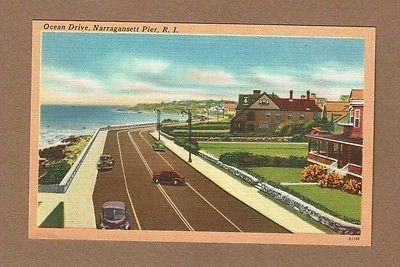Narragansett Pier,RI Rhode Island, Ocean Drive, crazy cars dubbed into image