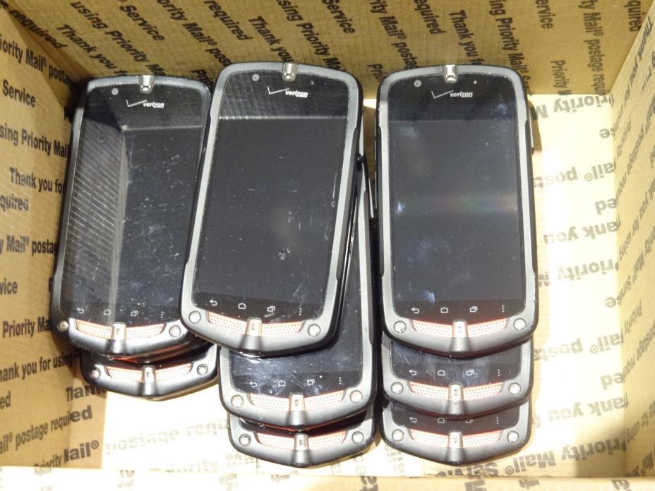 Lot of 10 Casio G'Zone Commando C811 Verizon Smartphones Power On Good LCD AS-IS