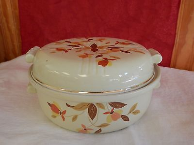 Jewel Tea Autumn Leaf Covered Casserole Dish 2 qt Hall