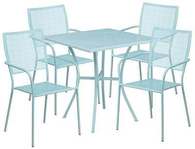 5-Pc Modern Patio Table Set in Blue [ID 3500511]