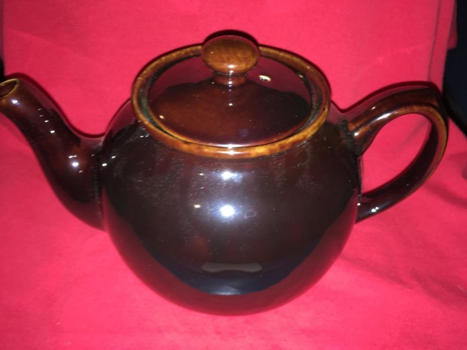 sadler england 6 cup boxed brown teapot