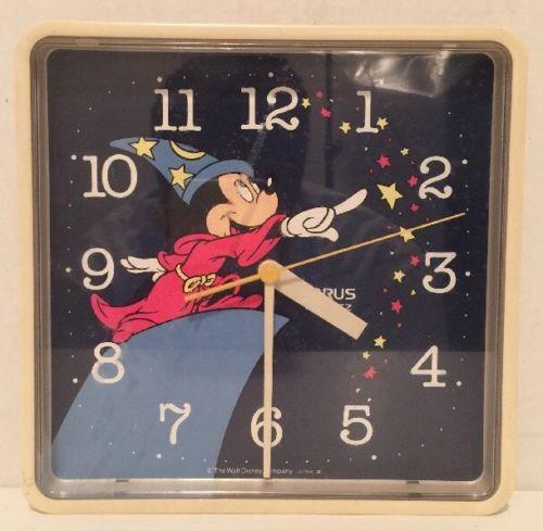 VTG Disney Fantasia Mickey Mouse Clock