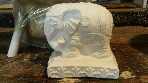 Concrete plaster mold elephant ready to ship