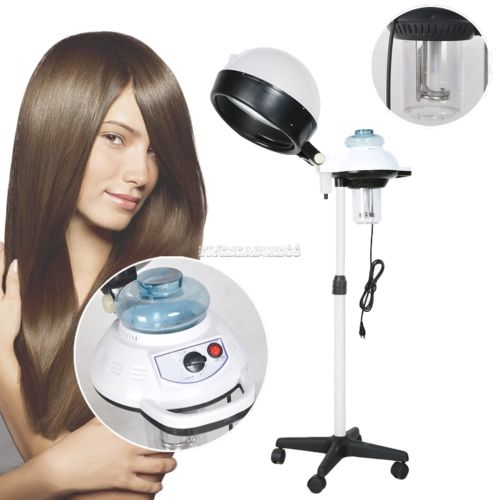 Pro Hair Steamer & Stand Salon Color Processor Conditioning with Wheels US Plug