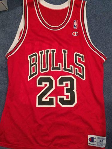 NEW Vintage Michael Jordan Chicago Bulls Champion Jersey 44 Large