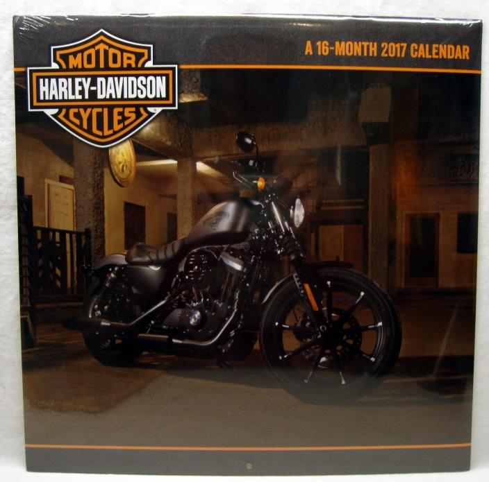 Harley Davidson Motor Cycles 2017 Wall Calendar Factory Sealed NEW