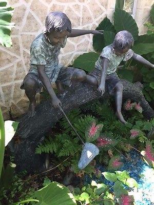Large Bronze Garden Sculpture / Statue -
