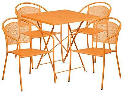 5-Pc Elegant Patio Table Set in Orange [ID 3500544]