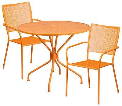 3-Pc Patio Table Set in Orange [ID 3500574]