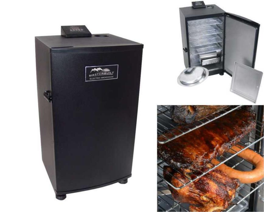 NEW Electric BBQ Digital Smoker Barbecue Grill Outdoor Portable Meat Cooker Rack