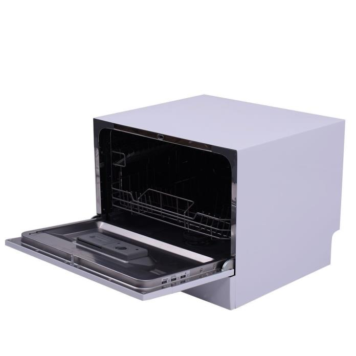 Portable Dishwasher Countertop Compact Tabletop Kitchen Stainless Steel White