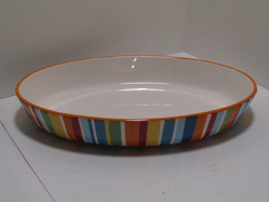 Crate and Barrel Carnivale Large Oval Bowl